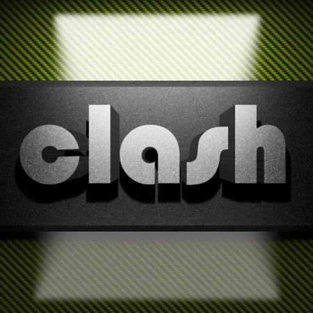 clash: metal word on carbon