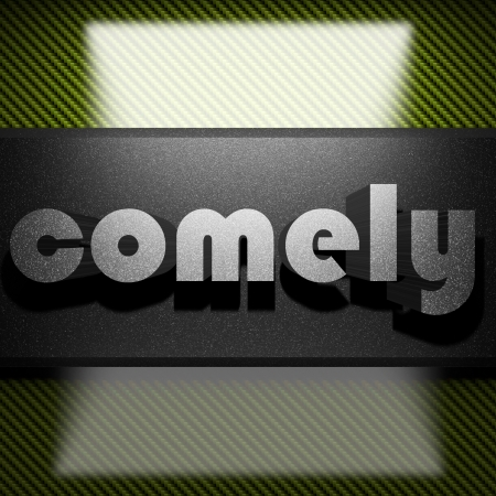 comely: metal word on carbon