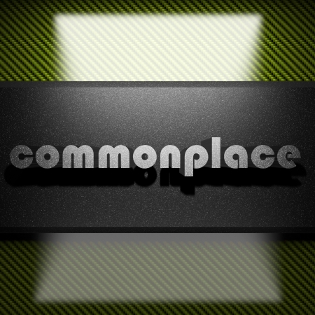 commonplace: parola di metallo sul carbonio