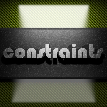 constraints: metal word on carbon