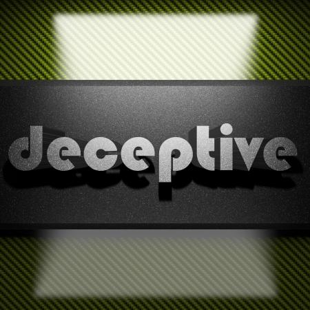 deceptive: metalen woord op koolstof