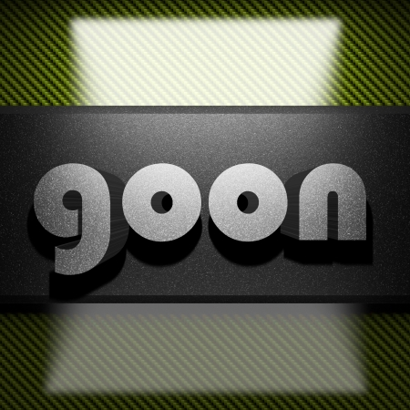goon: metal word on carbon