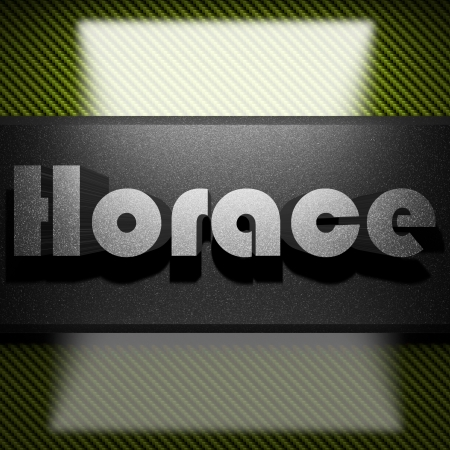 horace: metal word on carbon