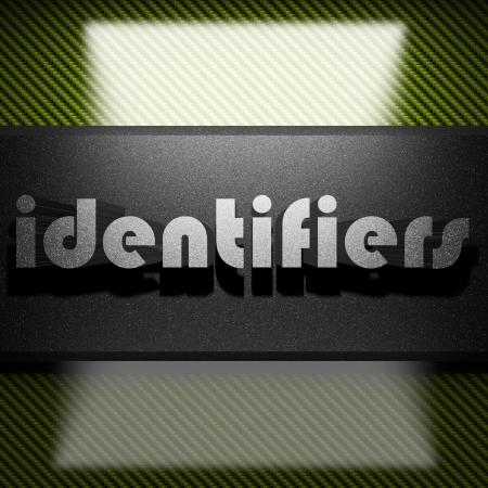 identifiers: metal word on carbon