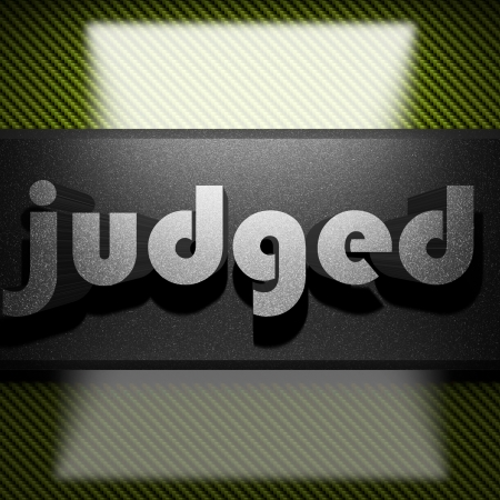 judged: palabra del metal en carbono