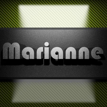 marianne: metal word on carbon