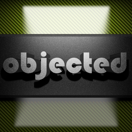 objected: metal word on carbon