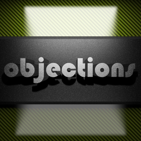 objections: metal word on carbon