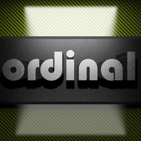 Ordinal: Metall-Wort auf Kohlenstoff Lizenzfreie Bilder