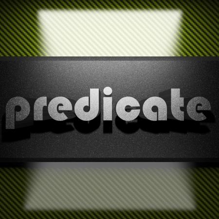 predicate: metal word on carbon