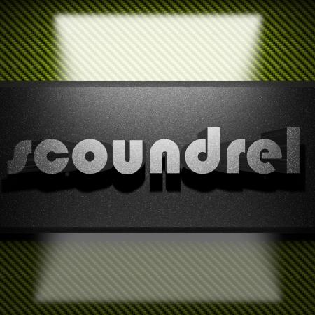 scoundrel: metallo parola su carbone