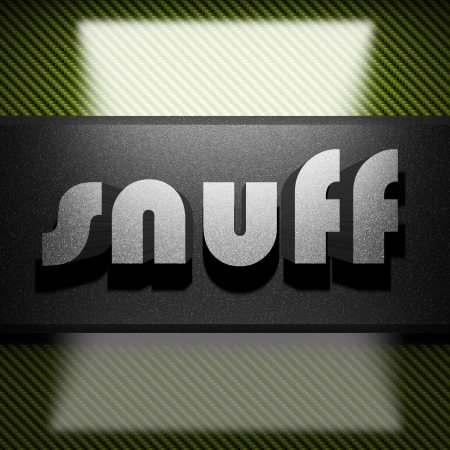 snuff: metal word on carbon