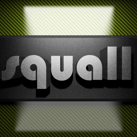 squall: metal word on carbon