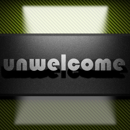 unwelcome: metal word on carbon