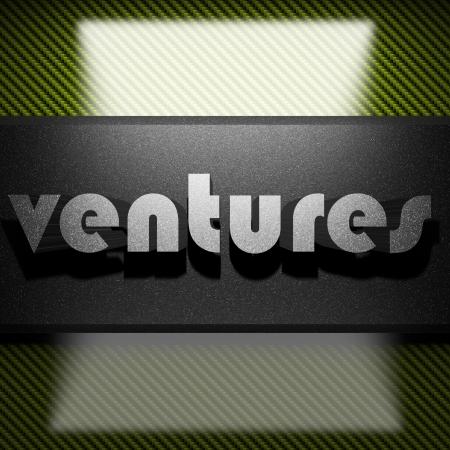 ventures: metal word on carbon