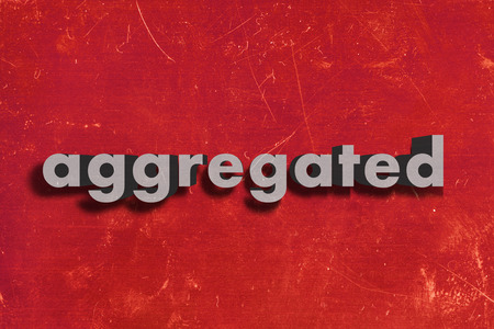 aggregated: gray word on red wall