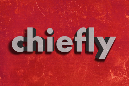 chiefly: gray word on red wall
