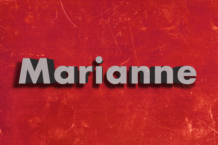 marianne: word on red wall