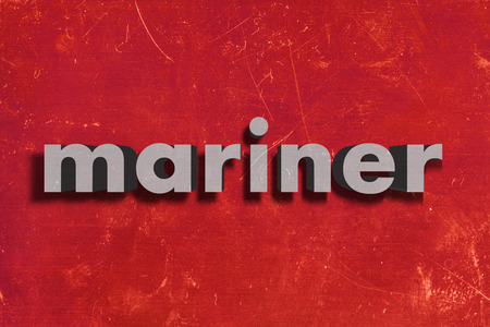 mariner: word on red wall