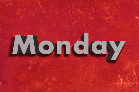 weekdays: word on red wall