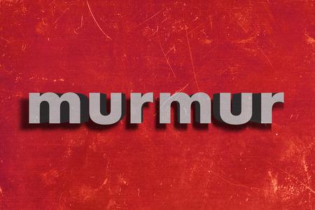 murmur: gray word on red wall