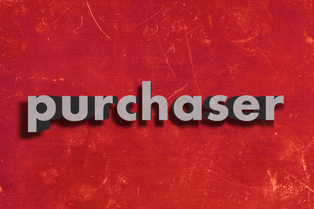 purchaser: gray word on red wall
