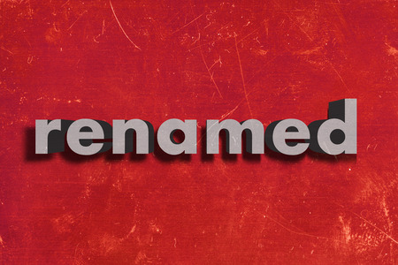 renamed: gray word on red wall