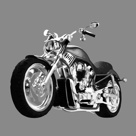 realista vector pintado motocicleta