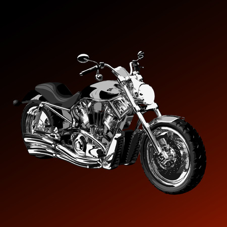 realistic vector painted motorcycle Vector