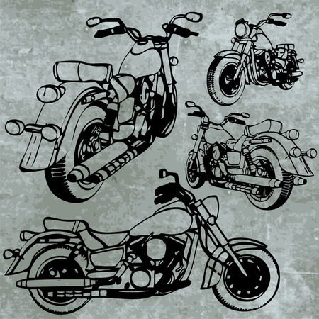 throttle: motorbike made in vector