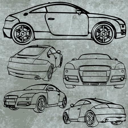 moder: vector sport car