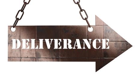 d�livrance: mot sur cuivre fl�che
