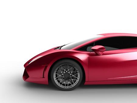 sport car on white background