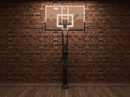 vector basketball and brick background Vector