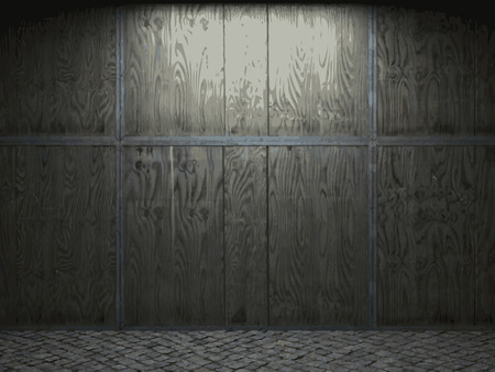 vector wooden wall background Vector
