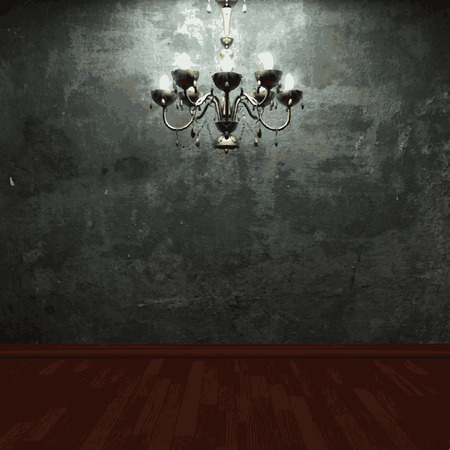 chandelier background: vector chandelier and stone background