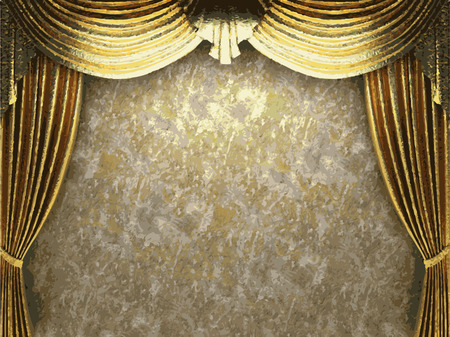 opulence: vector golden curtain background Illustration