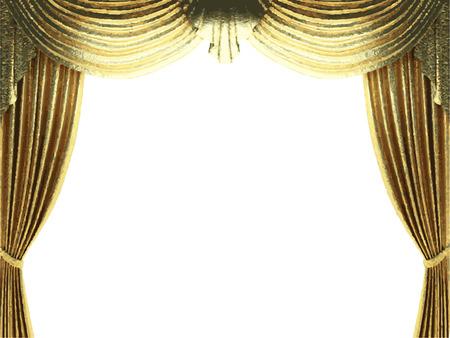 lyric: vector golden curtain background Illustration
