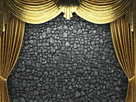vector telón de fondo de oro