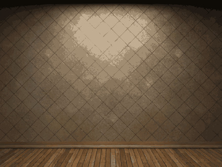vector illuminated tile wall background