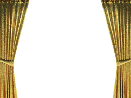 opulence: golden curtain background