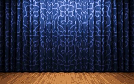 carmine: etapa cortina azul Vectores