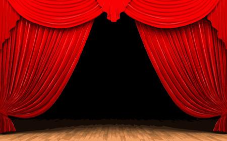 red velvet: Red velvet curtain opening scene