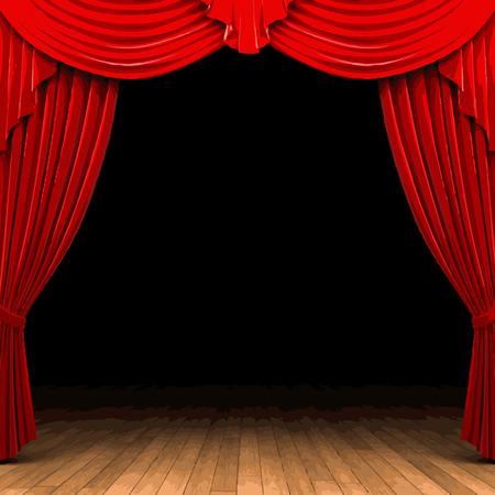 carmine: etapa cortina de terciopelo rojo
