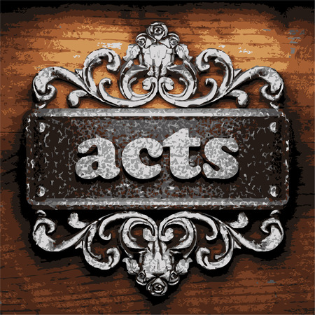 iron acts word on wooden background