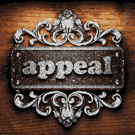 appeal: iron appeal word on wooden background