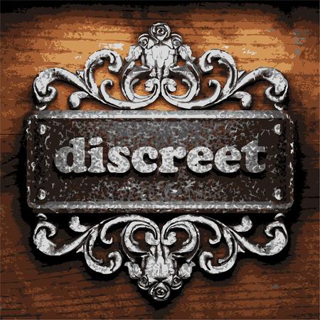 discreto: de hierro la palabra vector sobre fondo de madera