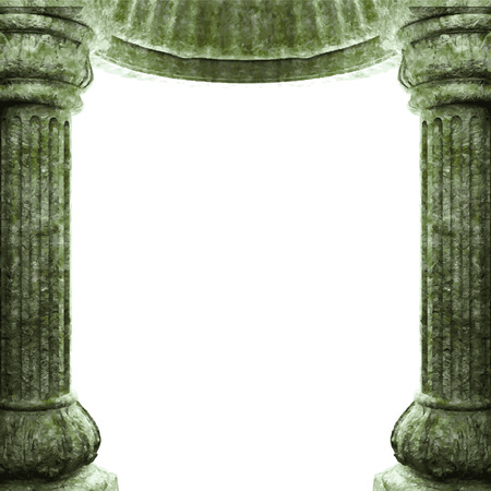 pilaster: vector stone columns and arch