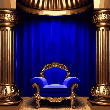 opulent: vector chair and curtain stage