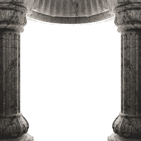 vector stone columns and arch Vector